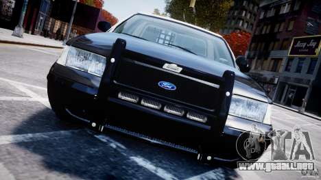 Ford Crown Victoria Massachusetts Police [ELS] para GTA 4 vista lateral
