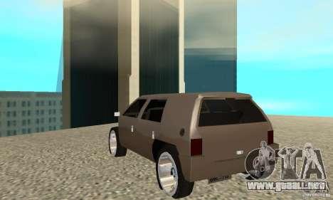 Jemala para GTA San Andreas vista posterior izquierda