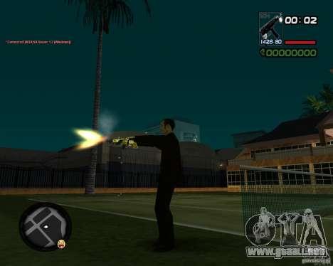 Tec 9 GOLD para GTA San Andreas sucesivamente de pantalla