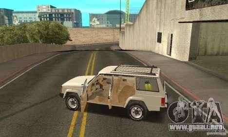Jeep Grand Cherokee 1986 para GTA San Andreas interior