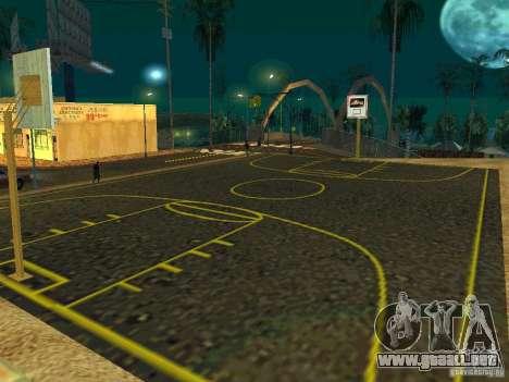New basketball court para GTA San Andreas segunda pantalla