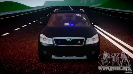 Skoda Octavia Scout Unmarked [ELS] para GTA 4 interior