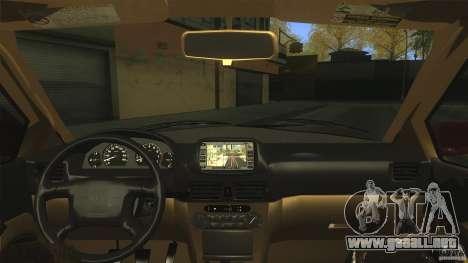 Toyota Corolla G6 Compact E110 US para visión interna GTA San Andreas