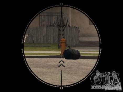 Bizon PP-19 con óptica para GTA San Andreas tercera pantalla