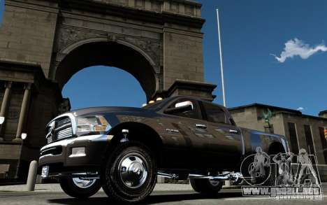 Dodge Ram 3500 Stock Final para GTA 4 vista superior