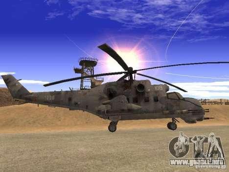 Mi-24 de COD MW 2 para GTA San Andreas left