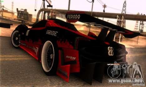 Pagani Zonda R para la vista superior GTA San Andreas