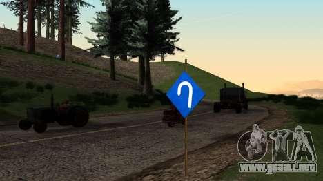 Nuevas señales de tráfico para GTA San Andreas