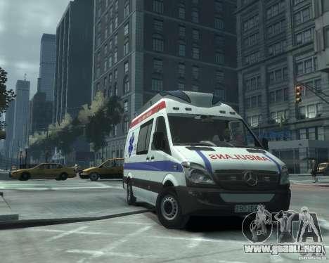 Mercedes-Benz Sprinter Azerbaijan Ambulance v0.1 para GTA 4 left
