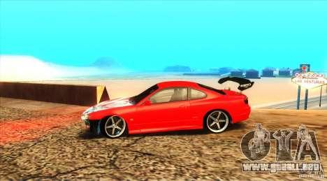Nissan Silvia S15 para GTA San Andreas vista hacia atrás