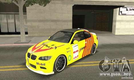 BMW M3 2008 Hamann v1.2 para GTA San Andreas interior