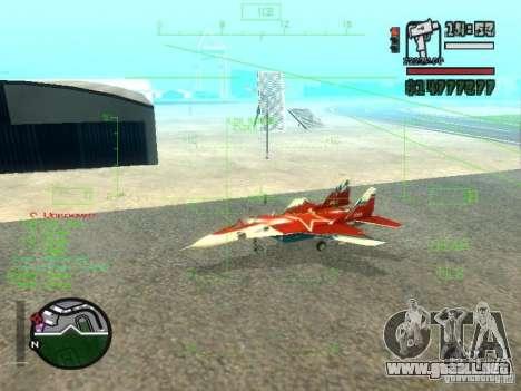 MIG 29 OVT para GTA San Andreas left