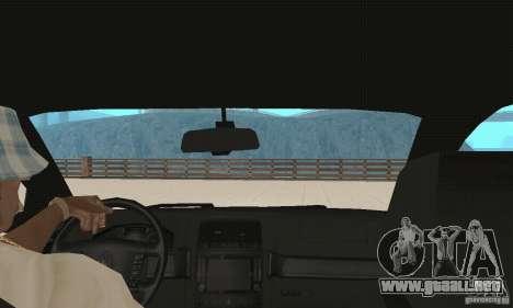 Volkswagen Touareg 2008 para visión interna GTA San Andreas
