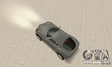 Alfa Romeo 8 c Competizione stock para la vista superior GTA San Andreas