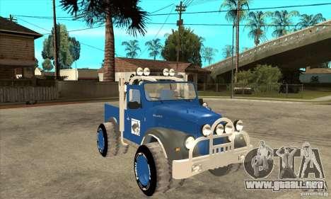 Aro M461 - Offroad Tuning para GTA San Andreas vista hacia atrás