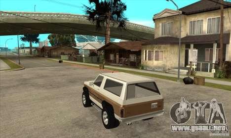 Ford Ranger para GTA San Andreas vista posterior izquierda