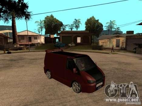 Ford Transit Tuning para la visión correcta GTA San Andreas
