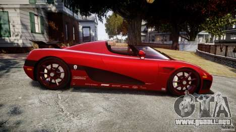 Koenigsegg CCXR Edition para GTA 4 left
