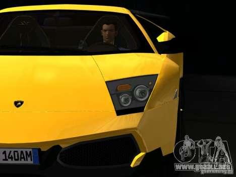 Lamborghini Murcielago LP670-4 sv para la vista superior GTA San Andreas