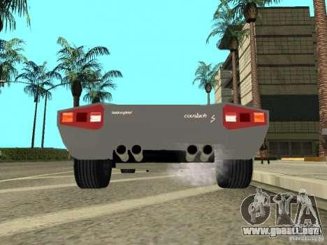 Lamborghini Countach LP400 para GTA San Andreas vista hacia atrás