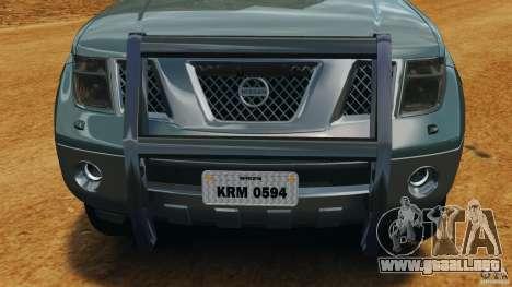 Nissan Frontier DUB v2.0 para GTA 4 vista desde abajo