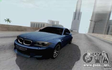 BMW 1M 2011 V3 para la visión correcta GTA San Andreas
