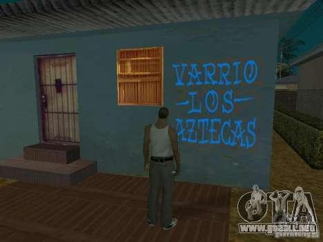 Varrio Los Aztecas para GTA San Andreas novena de pantalla