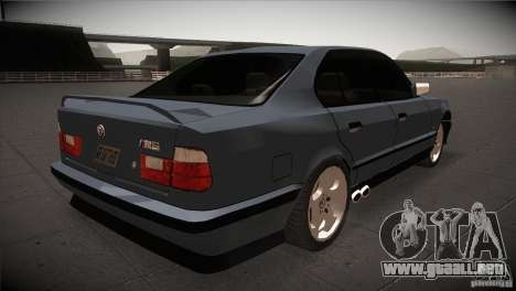 BMW M5 E34 1990 para la visión correcta GTA San Andreas