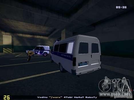 Policía gacela 2705 para GTA San Andreas left