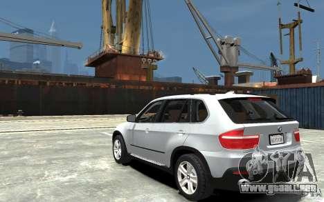 BMW X5 2009 para GTA 4 Vista posterior izquierda