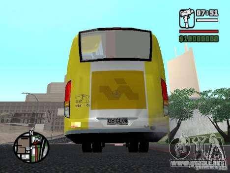 Busscar Vissta Bus para GTA San Andreas vista posterior izquierda