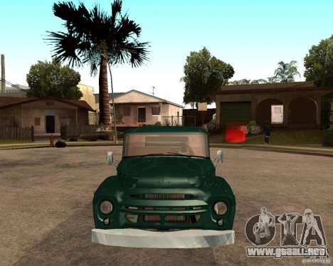 ZIL 130 ardiente Tempe v1.0 para GTA San Andreas vista posterior izquierda