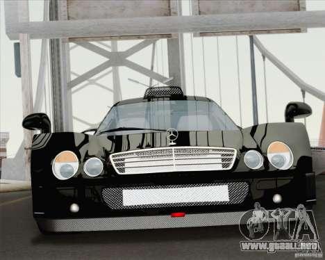Mercedes-Benz CLK GTR Race Road Version Stock para visión interna GTA San Andreas