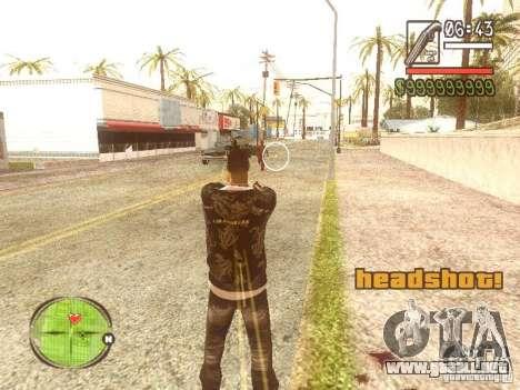 Wild Wild West para GTA San Andreas sucesivamente de pantalla