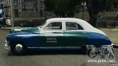 Packard Eight Police 1948 para GTA 4 left