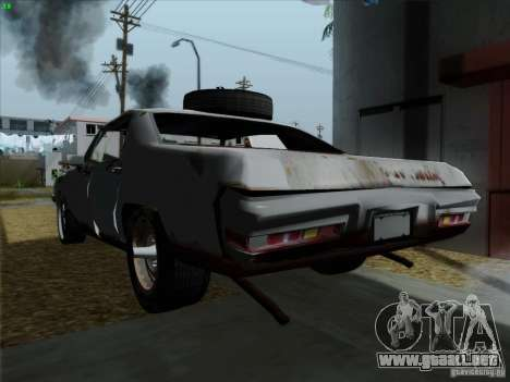 BETOASS car para GTA San Andreas vista posterior izquierda
