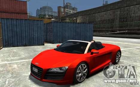 Audi R8 Spyder 5.2 FSI Quattro V4 [EPM] para GTA 4 visión correcta
