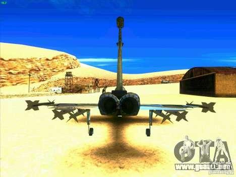 F-5E Tiger para GTA San Andreas vista posterior izquierda