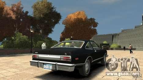Plymouth Volare Coupe 1977 para GTA 4 visión correcta