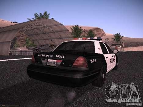 Ford Crown Victoria Police 2003 para la visión correcta GTA San Andreas