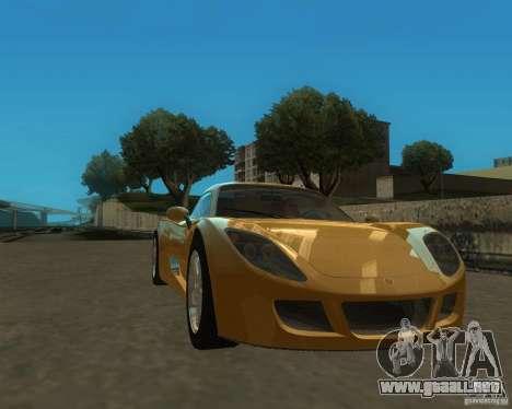 Ginetta F400 para GTA San Andreas vista posterior izquierda
