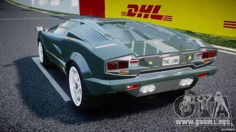 Lamborghini Countach v1.1 para GTA 4 Vista posterior izquierda