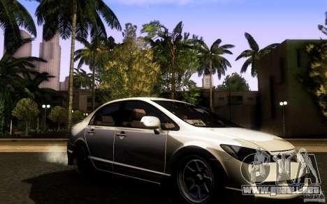 Honda Civic FD BlueKun para la visión correcta GTA San Andreas