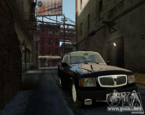 Volga GAZ 3110 para GTA 4 vista desde abajo