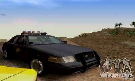 Ford Crown Victoria Kentucky Police para GTA San Andreas vista hacia atrás