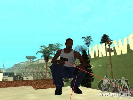 Laser Weapon Pack para GTA San Andreas