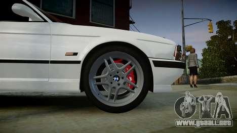 BMW M5 (E34) 1995 v1.0 para GTA 4 visión correcta