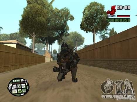 El traje de los juegos de Dead Space 2 para GTA San Andreas sexta pantalla