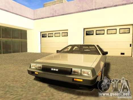 DeLorean DMC-12 V8 para la vista superior GTA San Andreas