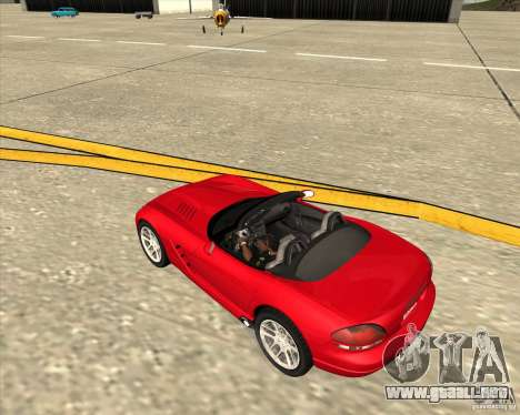 Dodge Viper SRT-10 Roadster para vista lateral GTA San Andreas